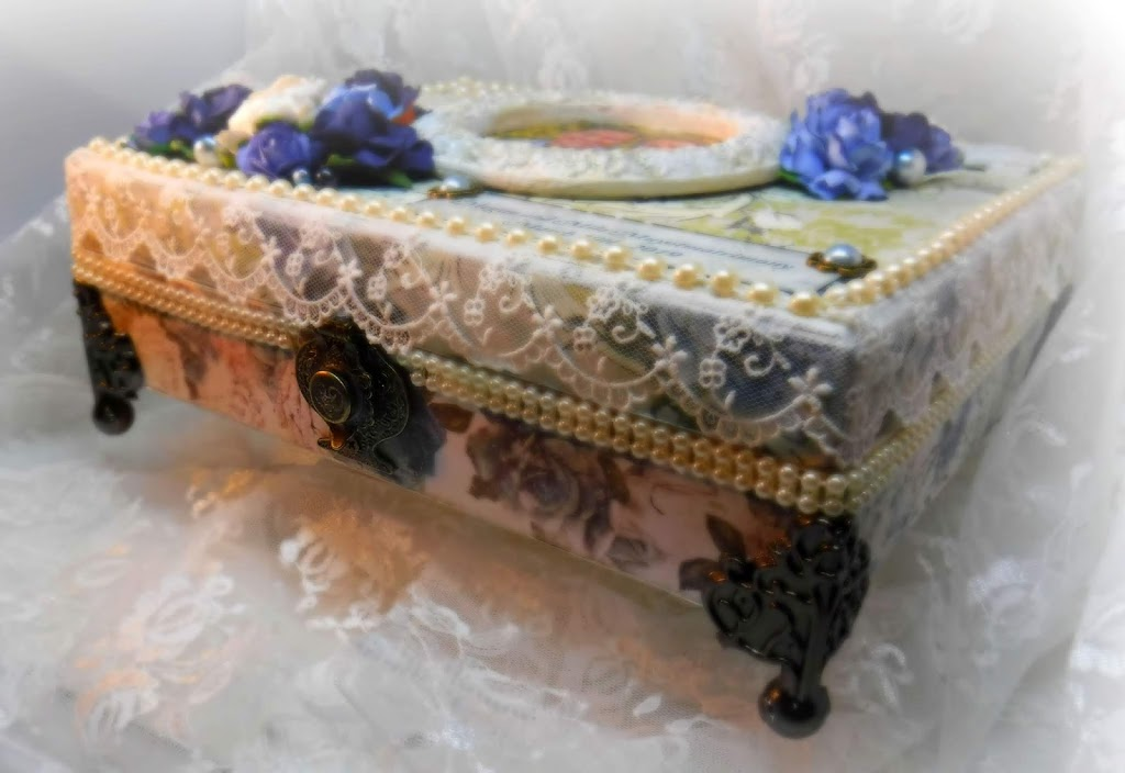 Wedding Keepsake Box- Georgia Blues